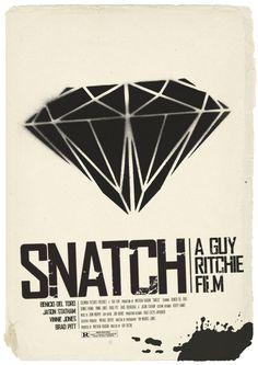 Snatch - Minimalist movie poster #GangsterMovie #GangsterFlick