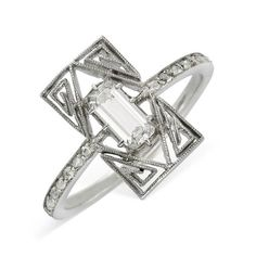 A Diamond and Platinum Ring, by Lalique, circa 1910 http://amzn.to/2srPjfG