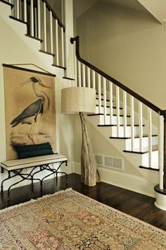 Traditional Staircase Design, Pictures, Remodel, Decor and Ideas - beautiful Wooden Staircases, Wooden Stairs, Entry Stairs, Entry Foyer, Interior Inspiration, Design Inspiration, Foyer Decorating, Decorating Ideas, Decor Ideas