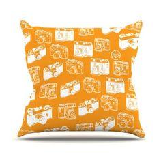 KESS InHouse Camera Throw Pillow Color: