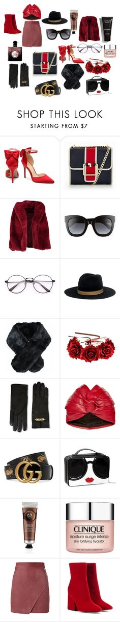 """""""Gifts for her"""" by zambetgratisblog-giagianina on Polyvore featuring Tommy Hilfiger, Boohoo, Gucci, Janessa Leone, Jeanne Simmons, Moschino, The Body Shop, Clinique, Michelle Mason and Maison Margiela"""