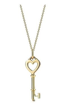 Tiffany  Co Outlet Necklaces Transparent Golden Key
