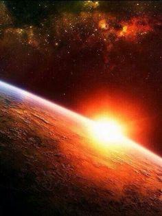 Sunrise from satellite