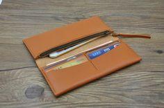 手工钱包 多卡位 苹果iPhone 4s5sc6plus 手机钱包 保护套 多功能牛皮钱包 - HENING | Pinkoi