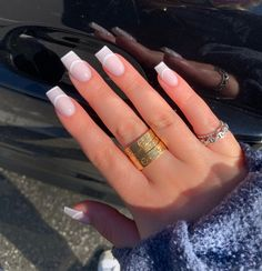Bad Nails, Nails Now, White Acrylic Nails, Best Acrylic Nails, Dainty Tattoos, Fire Nails, Minimalist Nails, Pretty Nail Art, Girls Makeup
