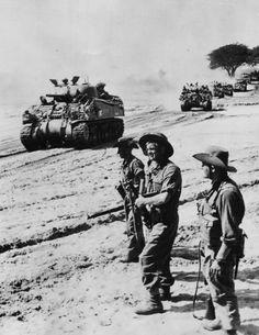 M4 Sherman Tanks Advance toward Meiktila Burma 1945