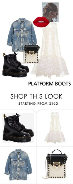 Platform Boots No1 by cl-silk ❤ liked on Polyvore featuring Dr. Martens, HUISHAN ZHANG, R13, Valentino and Lime Crime