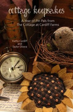 The Cottage at Cardiff Farms Quilt Patterns, Wool Projects, and Original Fiber Designs Primitive Folk Art, Primitive Crafts, Primitive Fall, Sunflower Quilts, Sunflower Crafts, Sunflower Art, Wooly Bully, Wool Applique Patterns, Quilt Patterns