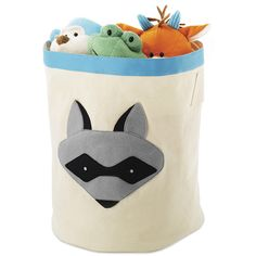 Whitmor Raccoon Storage Bin (3.665 HUF) ❤ liked on Polyvore featuring home, children's room and children's decor
