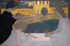 'Martha und Maria, Eremitaget', 1896 von Denis Maurice (1870-1943, France)