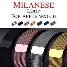 Milanese Loop For Apple Watch band iwatch strap Stainless Steel Link Bracelet wrist watchband magnetic buckle Feature: Compatible Models: Milanese Loop Band for Apple watch Link Bracelet Strap Magnetic adjustable buckle with adapter for iwatch Series 4321 Apple Watch 42mm, Apple Watch Nike, Apple Watch Series 2, Apple Straps, Panerai Straps, Stainless Steel Chain, Link Bracelets, Leather Watches, Series 4
