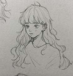 art sketches aesthetic ~ art sketches & art sketches easy & art s… - Art Sketches Ideas 2020 Anime Drawings Sketches, Anime Sketch, Cute Drawings, Girl Drawings, Cartoon Drawings, Pretty Art, Cute Art, Cartoon Kunst, Deep Art