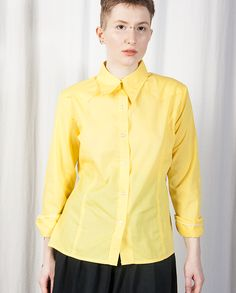 Lemon Yellow Long Sleeved Shirt