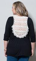 Plus Size Crochet Back Top