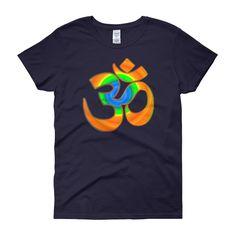 KarmaGear-T-Shirt-Om-Cotton-O-Neck-Short Sleeve-For Women