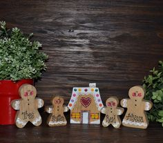 Christmas Decor Personalized Gingerbread Family by BlocksOfLove1