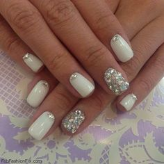 White Nails and Artistic Nail Styles 17