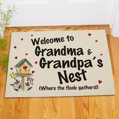 Personalized Welcome Grandma & Grandpa's - Gifts Happen Here - 1