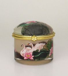 Pink Swan Pair Jewelry Case  228 by LucidRealm on Etsy, $29.95