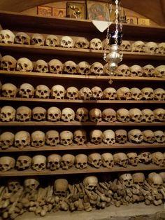 Bones of the monks - Meteora Monastery in Meteora, Greece #travel
