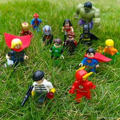 """Help!! Why me?"" ""Look! Because you are the last bad guy left in this world!!"" ""Huh?!"" http://MiniPlayHouse.com #lego #minifigures #superheroes #superhero #flash #thor #superman #batman #wonderwoman #greenlantern #hulk #spiderman #ironman #antman #aguaman"