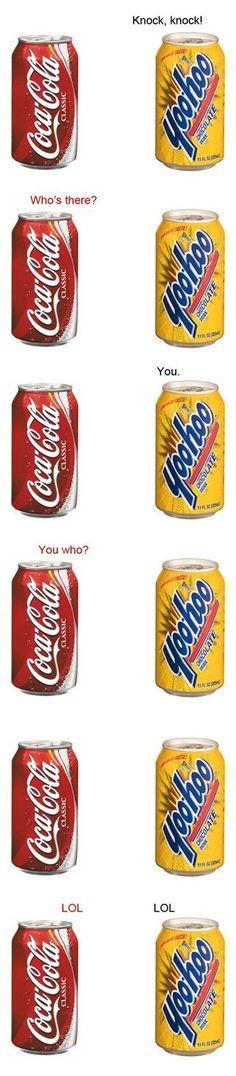 Yoohoo ad coca cola having a lovely knock knock joke and it turns out very funny