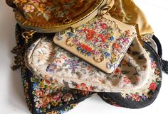 early 1900s into 1920s petit point bags