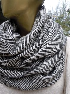 Herringbone scarf/ Grey Herringbone Men Scarf, Infinity scarf ,Unisex scarf, cowl scarf, men accessories,winter  fashion by gameofscarves on Etsy https://www.etsy.com/listing/243430218/herringbone-scarf-grey-herringbone-men