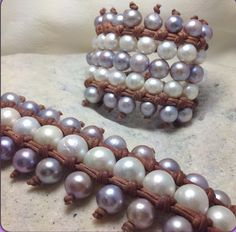 Gypsy cuff bracelets by Wendy Mignot #multicoloredpearls #wendypearls