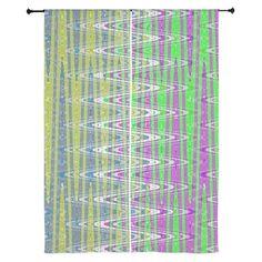 Chiffon Curtain Colorful Zigzag Pattern #decor #homedecor #cafepress