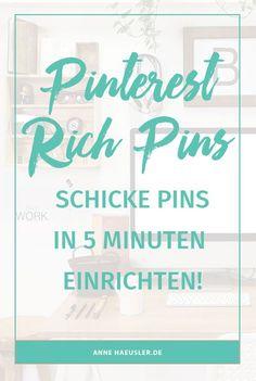 Schickere Pins in nur 5 Minuten. Ich erkläre dir, wie das geht I http://www.annehaeusler.de