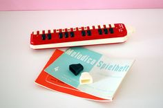 Vintage Red Hohner Melodica Alto Made in by FreudenDesLebens