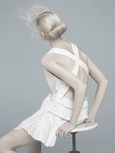 "inspiration for www.duefashion.com Flair May 2011 ""Total White"" Vika Falileeva By Emilio Tini"