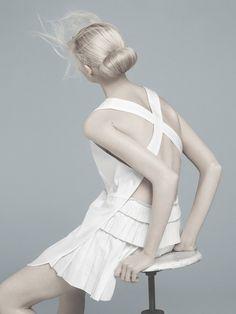 "Flair May 2011 ""Total White"" Vika Falileeva By Emilio Tini"