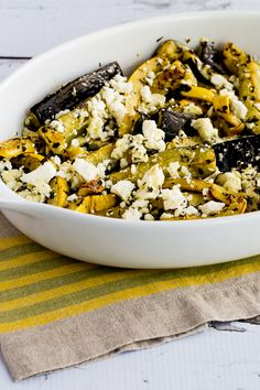 Roasted Summer Squash with Lemon, Mint, and Feta found on ...