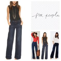 """Free People Jeans.  NWT. Free People Flared Jeans, 98% cotton, 2% spandex, machine washable, 27""""waist, 9.5"""" front rise, 13.5"""" back rise, 33"""" inseam, 22"""" leg opening all around,  pockets, belt loops, zip fly button front closure, measurements are approx. ...No Trades... Free People Jeans Flare & Wide Leg"""