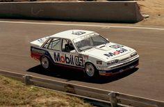 "Peter Brock / David ""Skippy"" Parsons - Holden VL Commodore - HDT Racing P/L - James Hardie 1000 Bathurst 1987 - Non Championship race Australian Muscle Cars, Aussie Muscle Cars, Holden Australia, Racing Team, Road Racing, V8 Supercars, Holden Commodore, My Ride, Touring"