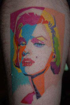 Pop art Marilyn Monroe Tattoo