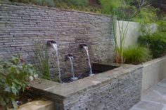 outdoor wall fountain modern - Google Search