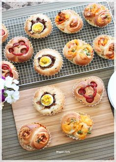 cute assorted breads
