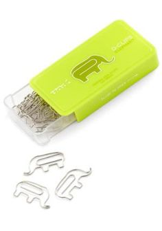 I know someone who would LOVE these elephant paperclips!