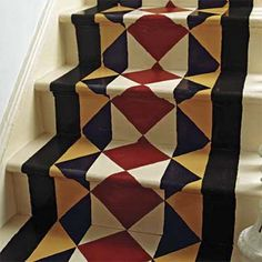 Tear Out Old Carpet on Your Stairs    How to do it: Refinish the treads and paint the risers white—or get creative and paint a runner-like pattern. Estimated cost: 1 gallon of white paint, sandpaper, wood putty to fill tack holes, 1 quart of stain, and 1 gallon of clear polyurethane, about $95; Lowe's