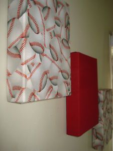 Using fabric and a box top.not just for baseball but football and basketball. For Caleb's room, but with football instead Beach Theme Wall Decor, Room Decor, But Football, Basketball Room, Kids Bedroom, Bedroom Ideas, Boy Room, Mini, Baby