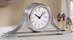 Bulova Sedona Table Clock. h1Bulova Sedona Table Clock_h1Bulova Sedona Table Clock.Solid Aluminum Case. Polished and brushed chrome finish. Beep Alarm.. See More Table Clocks at http://www.ourgreatshop.com/Table-Clocks-C1125.aspx