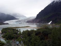 Mendenhall Glacier, Juneau-  It looks so small, yet it is so massive