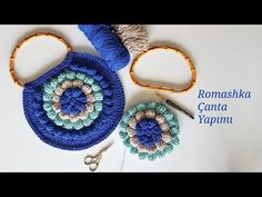 Making Romashka / Popcorn Bags with Crochet – Knit Granny Square Crochet Pattern, Crochet Stitches, Crochet Patterns, Crochet Handbags, Crochet Bags, Pop Corn, Crochet Circles, Crochet Instructions, Crochet Videos