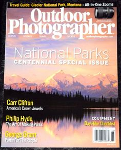 Outdoor Photographer Magazine   June 2016 (NO ADDRESS LABEL ON THE COVER)