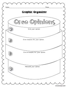Classroom Freebies: My Opinion Oreo Graphic Organizer...I like this better than an opinion sandwich; that just confused my students!