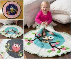 Free Owl Crochet Blanket
