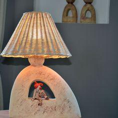 Lampa - šaškův sen II. / Zboží prodejce keramikas | Fler.cz Ceramic Lamps, Ceramic Pottery, Clay Pot Crafts, Clay Pots, Lampshades, Chandeliers, Ms, Abstract Art, Mid Century